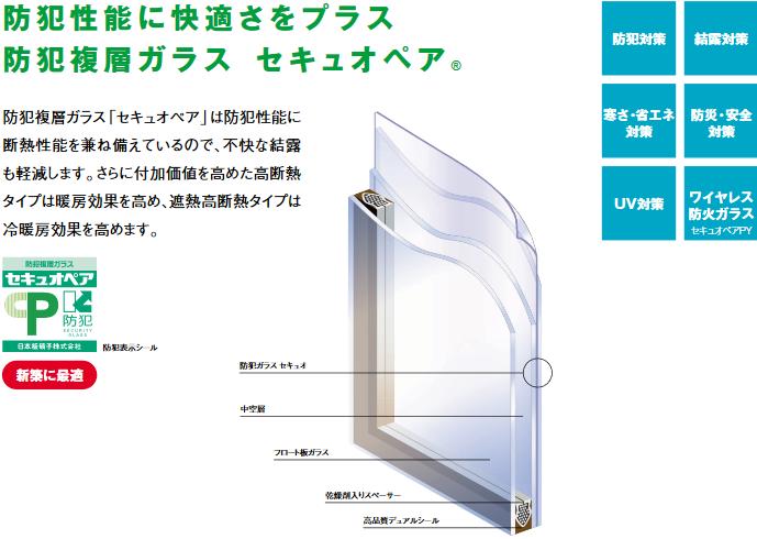 防犯性能に快適さをプラス 防犯複層ガラス セキュオペア